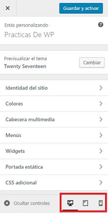 como-instalar-el-tema-de-wordpress-menu-de-personalizar