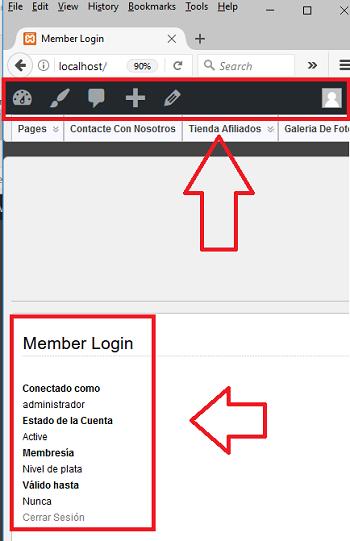 barra-visible-para-miembros-administradores-simple-membership