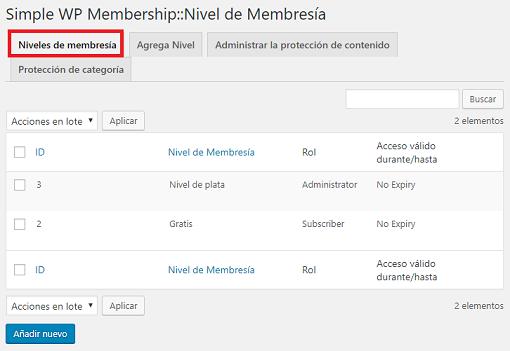 niveles-de-membresia-usando-simple-membership-plugin
