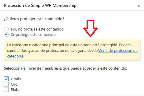 notificacion-proteccion-de-categoria-en-simple-membership-plugin