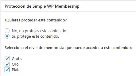 seleccionar-nivel-de-proteccion-contenido-simple-membership-plugin