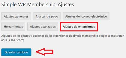 ajustes-de-extensiones-menu-de-simple-membership-plugin