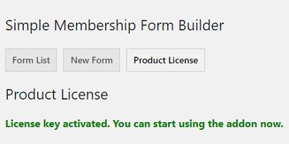 licencia-activada-form-builder-wp-simple-membership