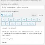 Ajustes del correo electrónico de smp de WordPress