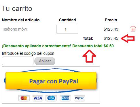 descuento-aplicado-wp-simple-shopping-cart
