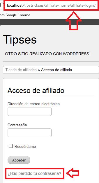 widget-acceso-wordpress-affiliates-manager
