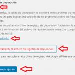 Opciones generales de WordPress Affiliates Manager