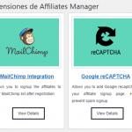 Extensiones de WP Affiliates Manager
