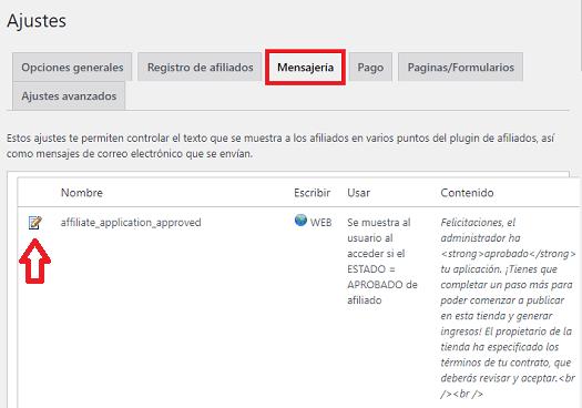 mensajes-wordpress-affiliates-manager