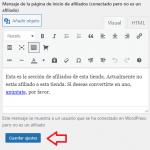 Ajustes de páginas y formularios de WP Affiliates Manager